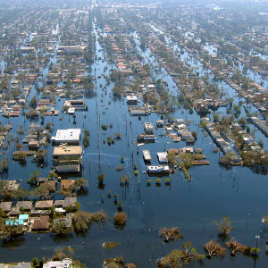 Hurricane Katrina flooding disproportionately affected African American neighborhoods