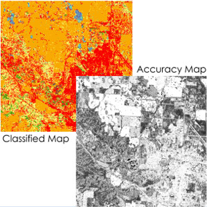 Creation of pixel-based accuracy maps for RS classification